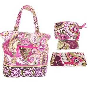 Vera Bradley Bag and Accessories in a Bundle Set